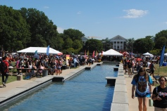 The First Look Fair fills the eastern half of the mall with tents, tables and plenty of students looking to explore or advertise campus clubs and organizations.