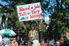 The Tell-a-Terp club advertises job opportunities for students.