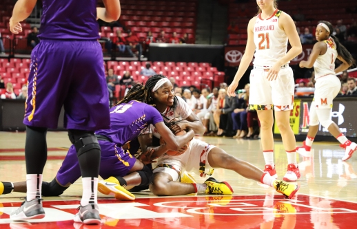 The Maryland women's basketball team crafted a dominate performance against the Albany Great Danes.
