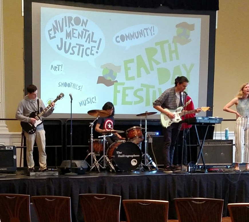The Radiographers playing at Earth Day Festival