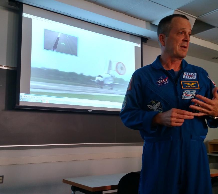 Richard Arnold II, wearing his NASA flight suit.